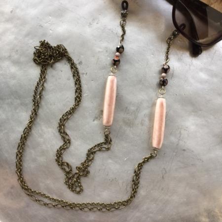 بند عینک از سرامیک رنگی و گوی نقاشی شده